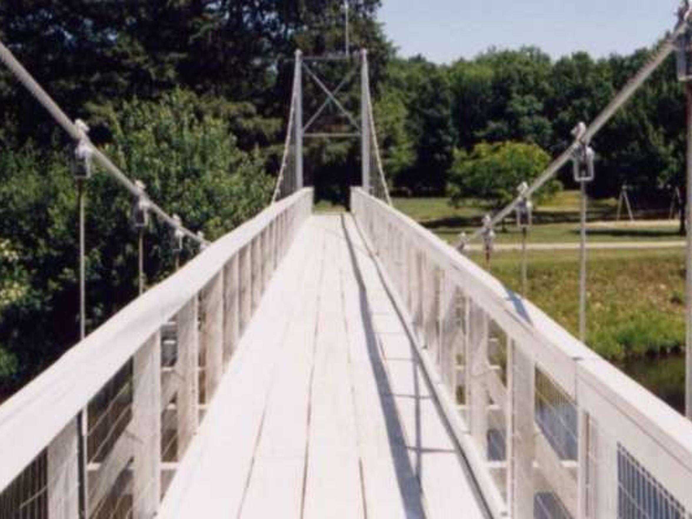 Bridge at North Wood County campsite.