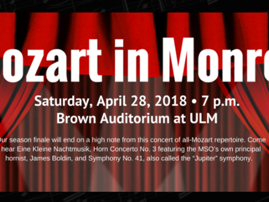 Mozart in Monroe is Saturday at ULM.