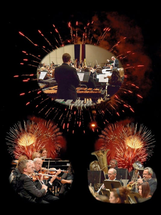 """Movie themes, patriotic tunes and the """"1812 Overture"""" will be capped with fireworks when the Las Cruces Symphony Orchestra presents """"Pops Under the Stars"""" Sept. 13 at NMSU's Presley Askew Field."""