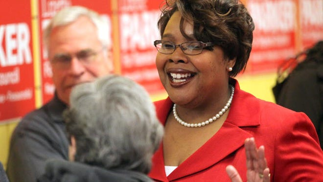 Lizette Parker at a campaign event in 2014 when she was a township councilwoman.