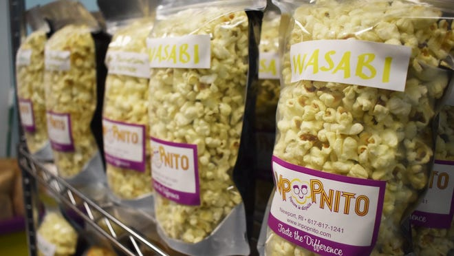 Wasabi is one of the 100 flavors of Inpopnito popcorn.