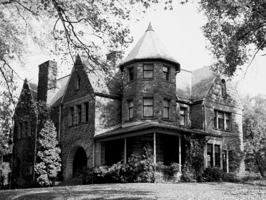 The mansion at 2 Fountain Place, shown in 1956.