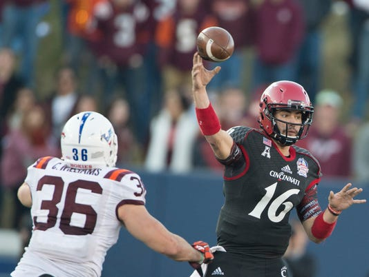 NCAA Football: Military Bowl-Virginia Tech vs Cincinnati