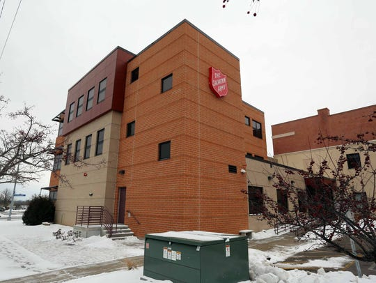 The exterior of the Salvation Army as seen Jan. 23,