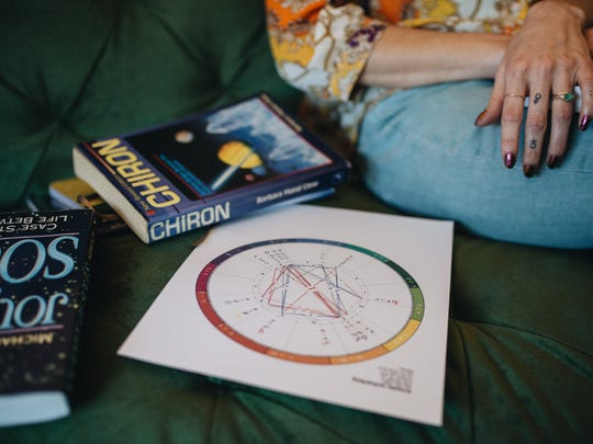 A star chart printed out by astrologer Evelyn Zuel