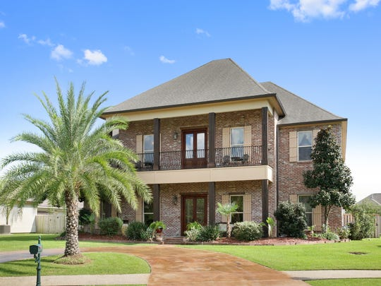 The 4 bedroom, 4 bath home, located at 101 Shinnecock Hills Drive in Broussard has 5,486 square feet of living area and is listed at $849,900.