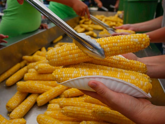 Thousands of ears of sweet corn were served up during