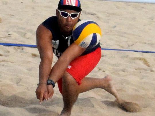 Guam men's national beach volleyball player Shintaro