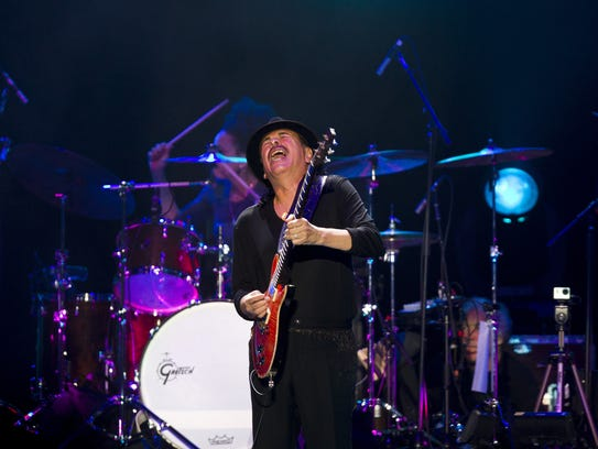 US-Mexican musician Carlos Santana performs during