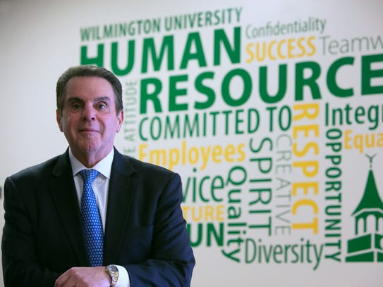 Wilmington University's outgoing president, Jack Varsalona,