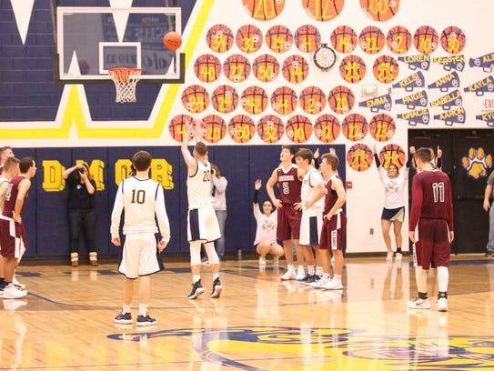 Woodmore's Mitchell Miller sinks a free throw for the