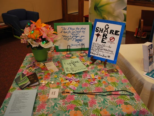 A Care and Share Support Group table was available