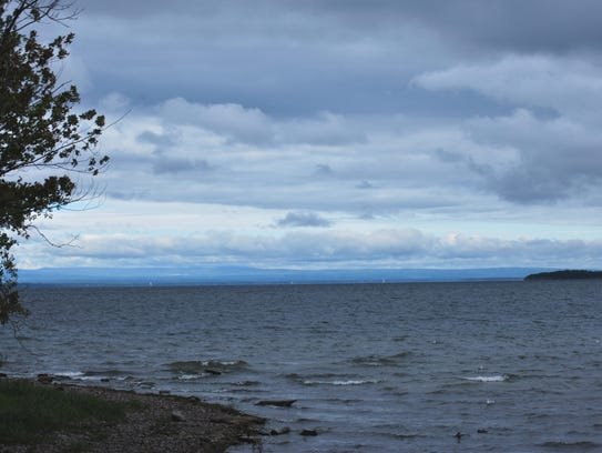 """The """"broad"""" portion of Lake Champlain,  seen from Oakledge"""