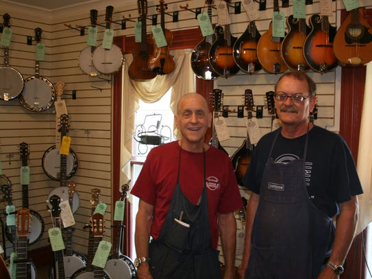 From left: Brothers Richard and David Stutzman. of