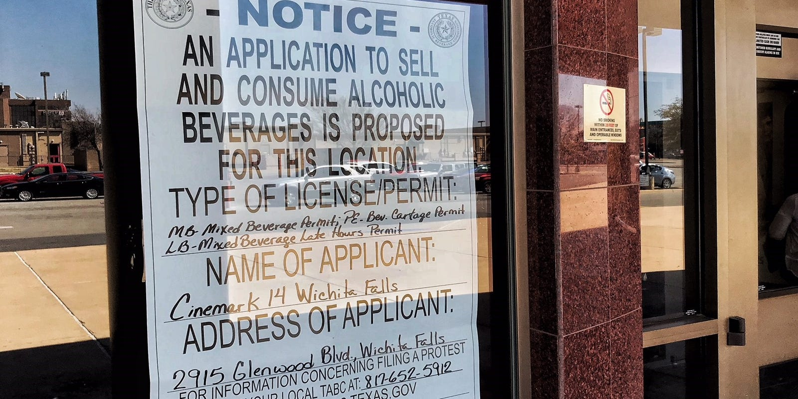 Wichita Falls Cinemark Seeks Permit To Sell Beer Wine Mixed Drinks