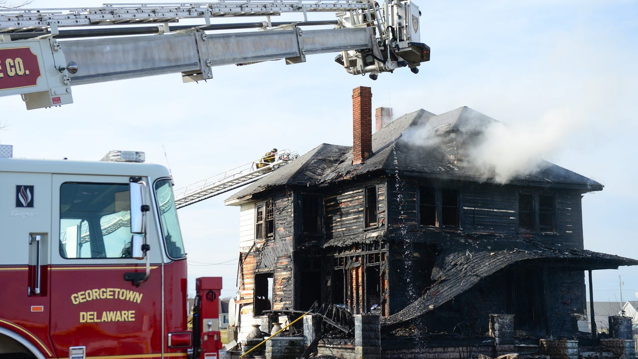 A home was fully involved on Dupont Blvd & Edward St. in Georgetown. Multiple fire agencies were on the scene. Wednesday, Jan. 11, 2017.