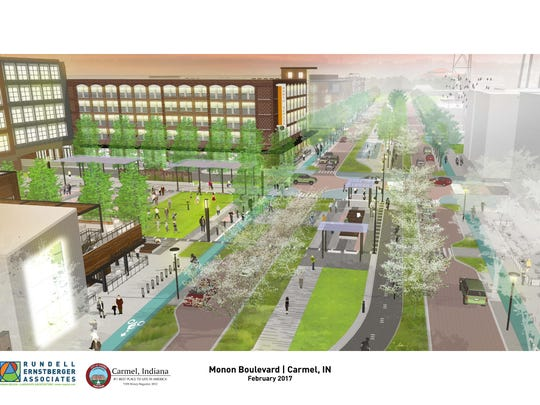 Carmel plans to expand the Monon through its downtown.