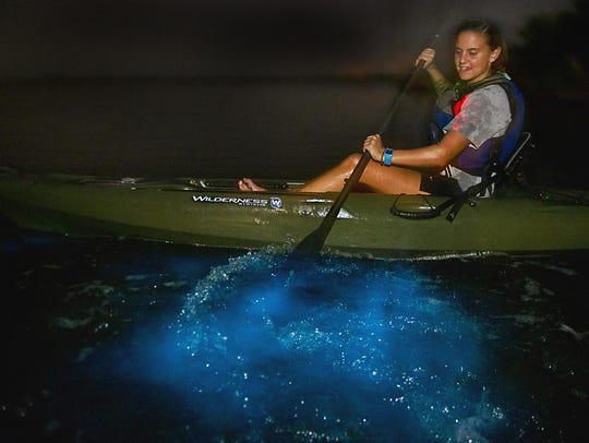 Titusville's Day Away Kayak Tours features a nighttime
