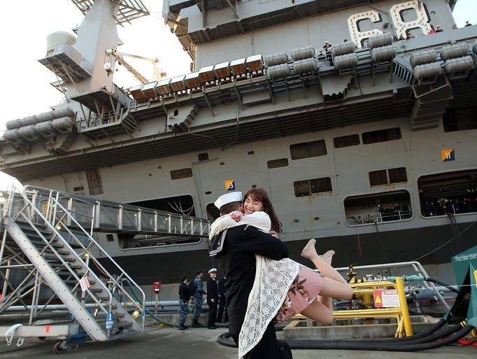 USS Nimitz Logistics Specialist 3rd Class Michael Zegarra