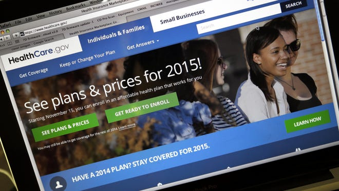 The HealthCare.gov website, where people can buy health insurance, as seen on a laptop screen. The second open enrollment period for buying health insurance under the federal Affordable Care Act starts on Saturday.