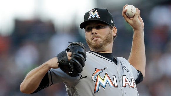 Miami Marlins pitcher Chris O'Grady, a Congers native