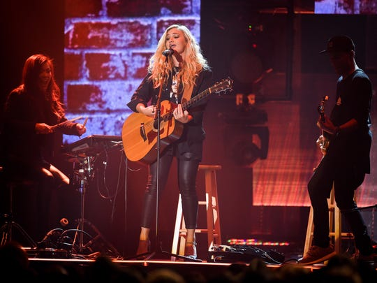 Hollyn performs during the 47th Annual GMA Dove Awards