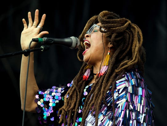 May 6, 2018 - Valerie June performs on the River Stage