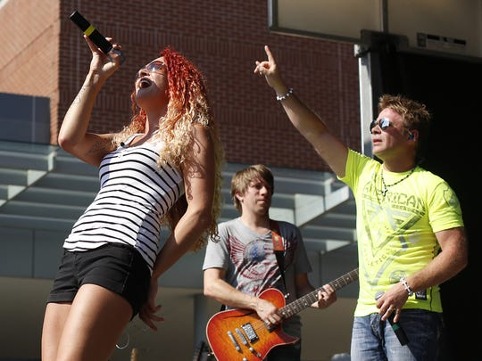 Boogie and the Yo-Yo'z perform during Octoberfest 2014 in downtown Appleton on Saturday, September 26, 2014, in Appleton, Wis.  Joshua Bessex/ Post-Crescent Media
