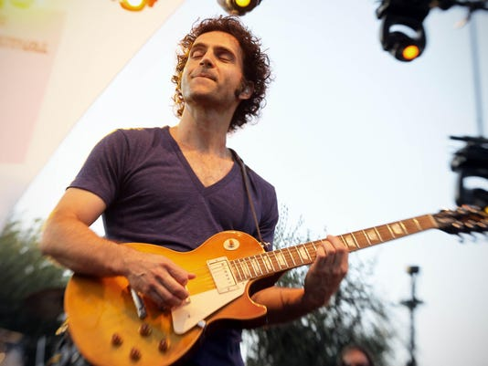 US Dweezil Zappa performs on the stage o
