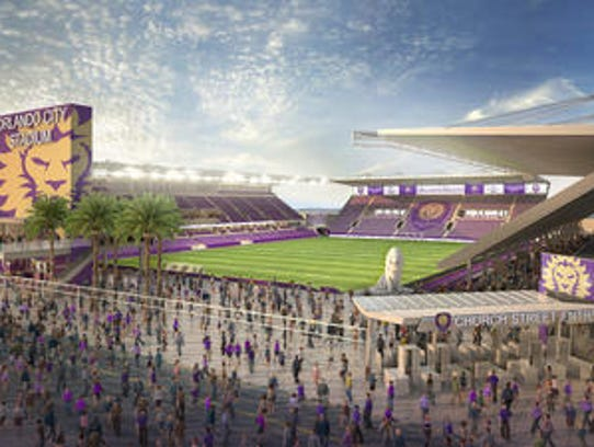 Artist's rendering of the Orlando City Soccer Club's