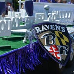 The annual Ravens Roost Parade in Ocean City featured festooned floats, an endless supply of Lombardi Trophy knockoffs, marching bands, and Ravens players riding in the parade and signing autographs.