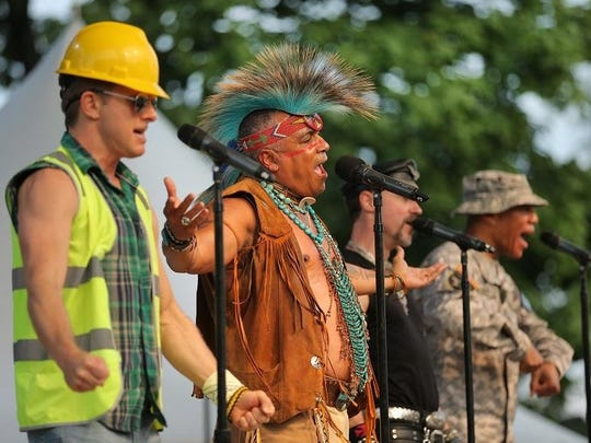 The Village People performed at the Free Stage on Aug. 17.