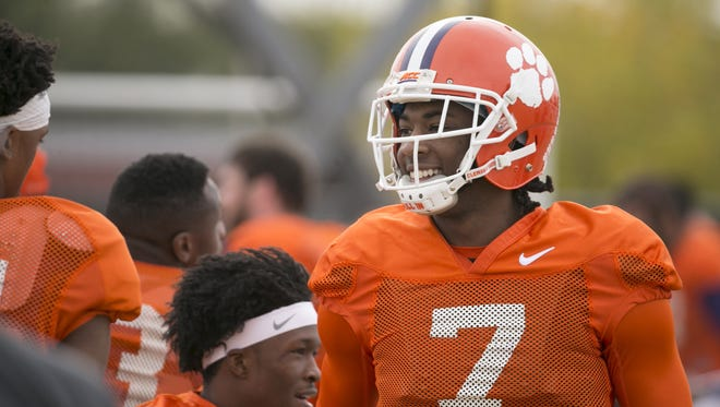Clemson wide receiver Mike Williams during a practice at Scottsdale Community College in Scottsdale on Wednesday, December 28. 2016. Clemson plays Ohio State in the Fiesta Bowl on December 31, 2016.