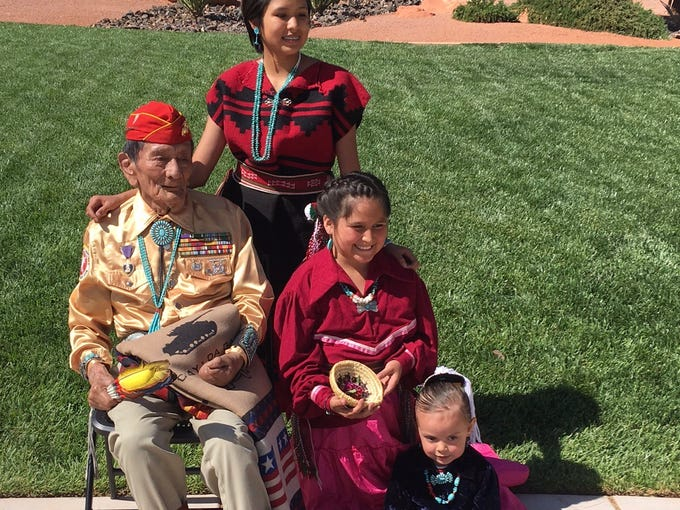 Samuel Tom Holiday, one of the last living Navajo Code