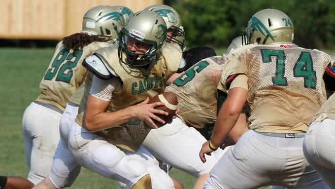 The health of Red Bank Catholic senior quarterback Eddie Hahn, who sustained a torn meniscus in mid-August, will be a key to Red Bank