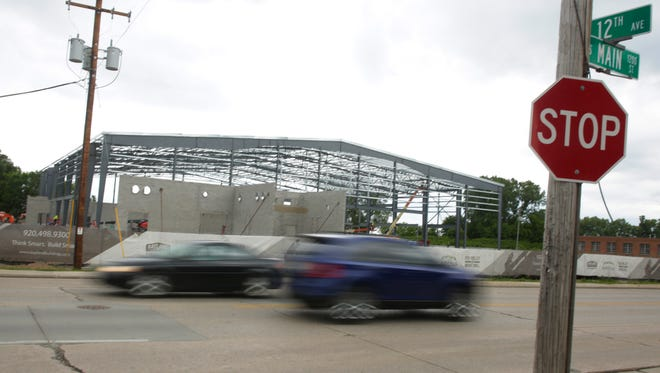 The city of Oshkosh will be allocating funds for improvements to roads and other infrastructure around the Oshkosh Arena. Work continues Wednesday, June 28, 2017, on the Oshkosh Arena, which will be the home for Fox Valley Basketball. The Milwaukee Bucks' D-League team, the Wisconsin Herd, will play their games in the new facility.