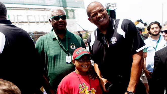 Marques Johnson returned to the Bucks as a broadcaster.