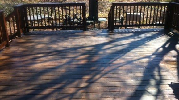 Deck-staining day forced an early day off from walking this week. Attempting to make it through the rest of the week without a day off could prove troubling.