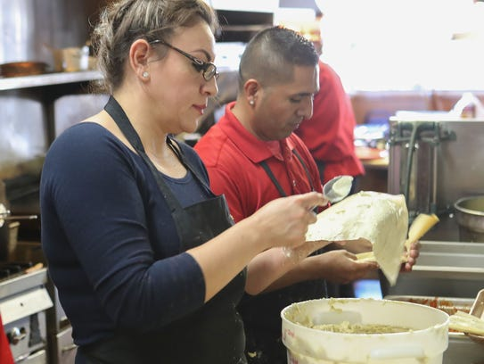 Tamales are prepared at Rincón Norteño for the upcoming