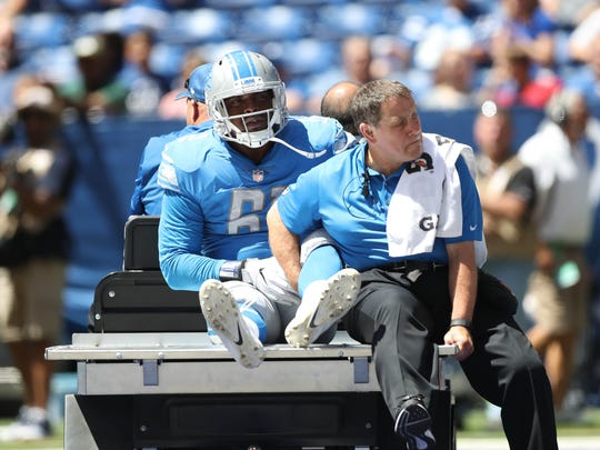 Kerry Hyder Jr. tore his Achilles in the second quarter