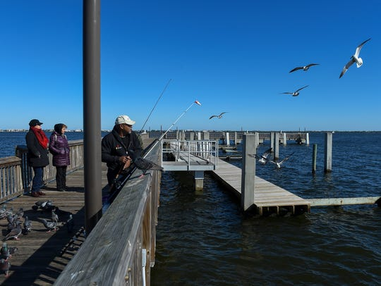 Martin County residents and visitors bundled up Thursday,