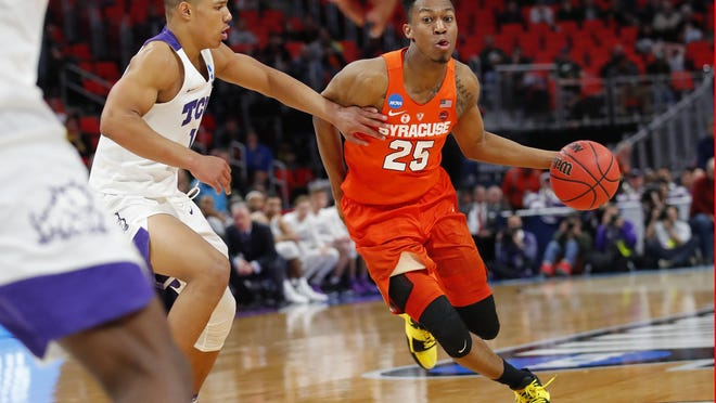 Syracuse guard Tyus Battle, here driving against TCU, is averaging 19.3 points per game for the Orange.