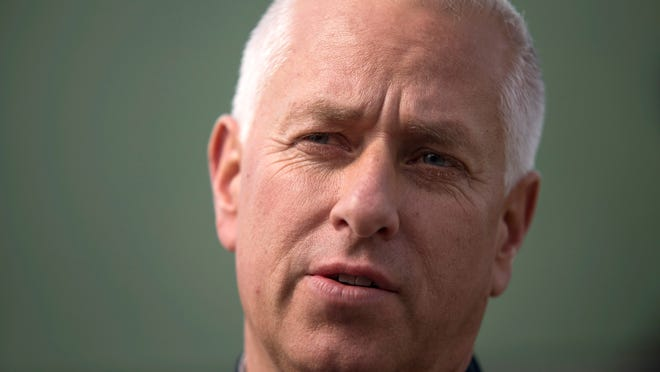 Horse trainer Todd Pletcher, seen Tuesday at Churchill Downs, has several horses competing in the Kentucky Derby.