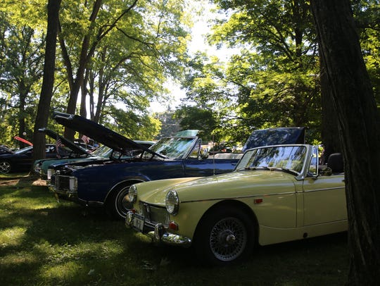 Scenes from the 13th annual Antique Car Show at Locust