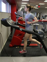 Alex Pierce, 25, is running again after her knee pain