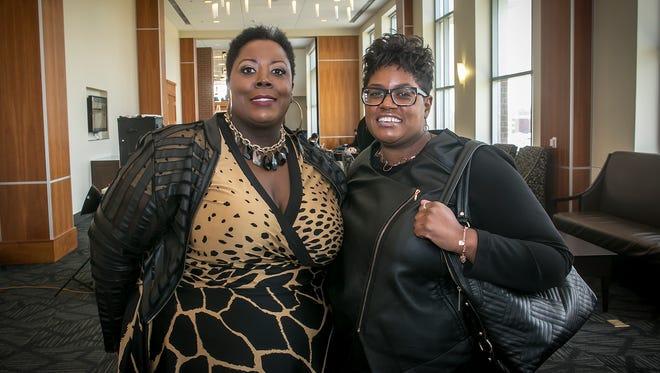 Netareka Johnson and Arkendra Johnson at Murfreesboro Magazine's annual Women in Business luncheon.