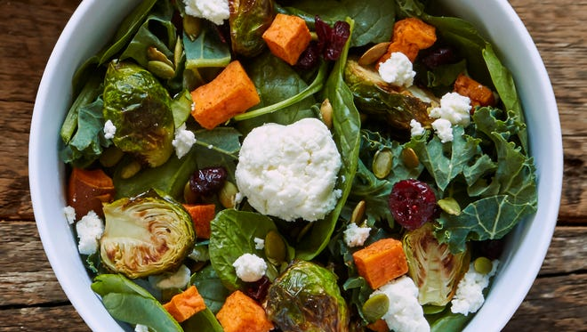 This Winter Harvest Salad from honeygrow offers a bounty of fresh veggies for those trying to cut back on meat.