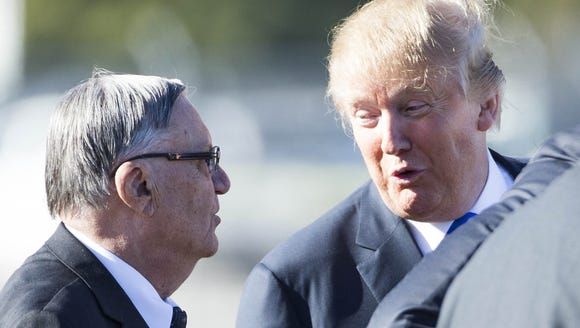 Maricopa County Sheriff Joe Arpaio and Donald Trump