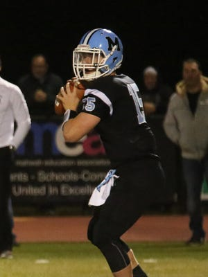 Mahwah quarterback Ron Riccie threw three touchdown passes to lead the Thunderbirds' offense to a win over Pequannock.