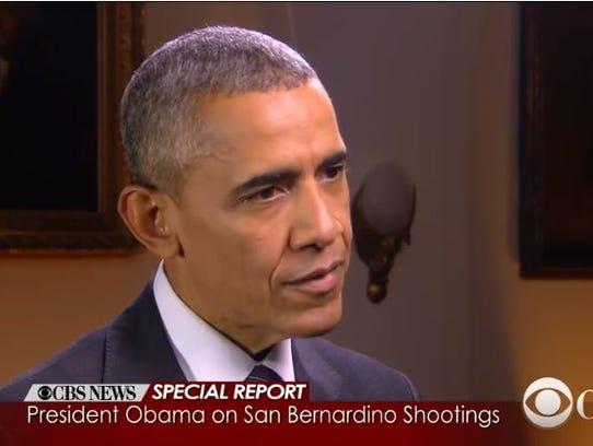 President Obama speaks to CBS News about the San Bernardino